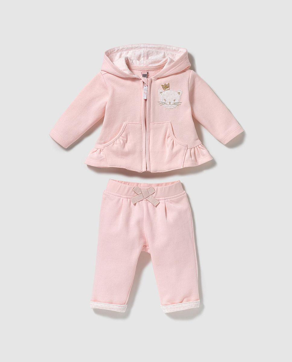 af1fd1387 Chándal de bebé niña Freestyle en rosa con corazones