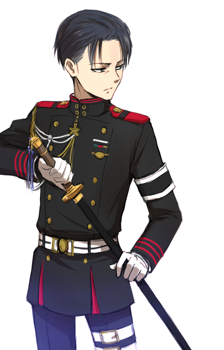 Levi with freaking Owari no Seraph uniform holy shizz 一瀬グレン