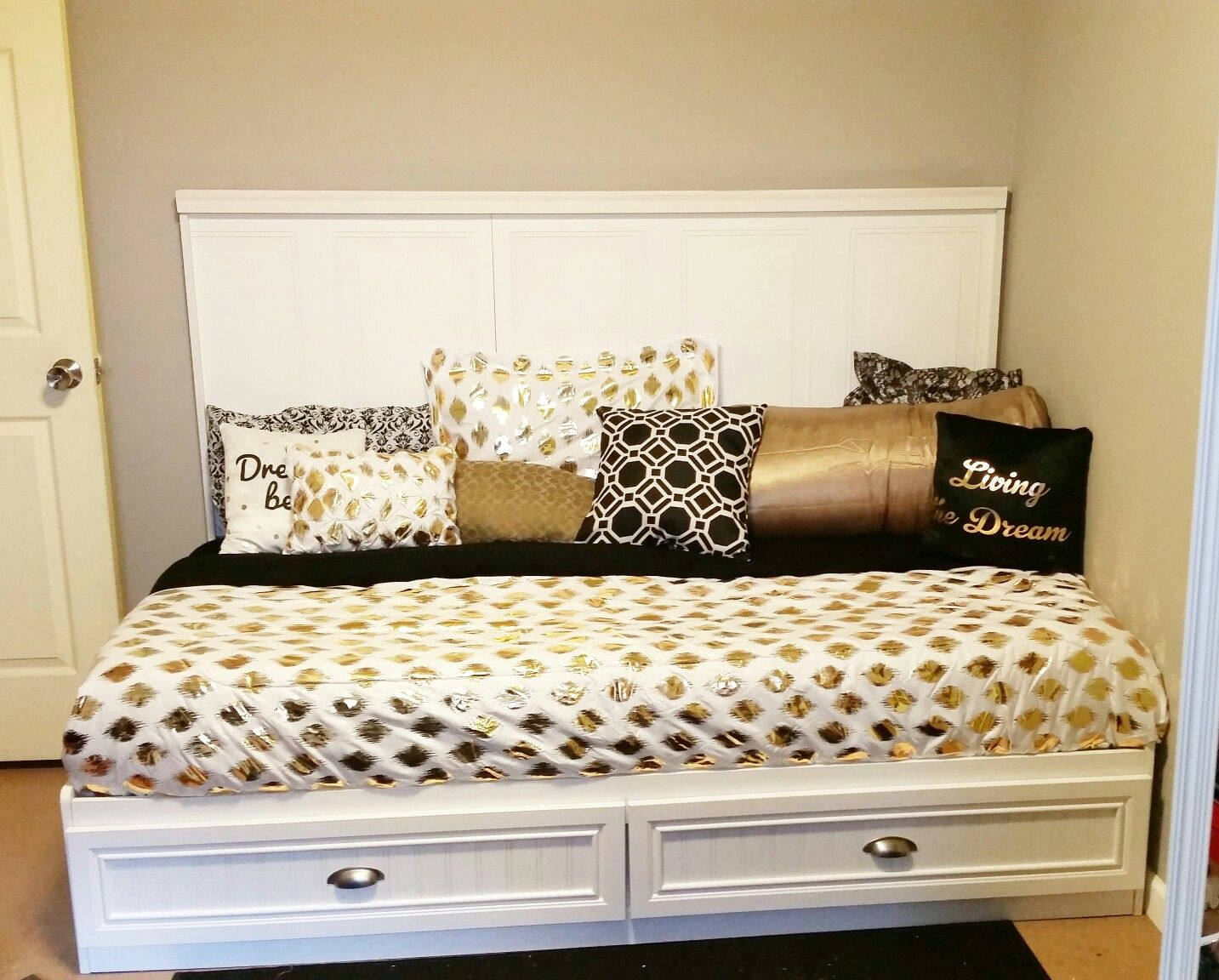 DIY Mini King Bed Create a mini king bed by turning a twin