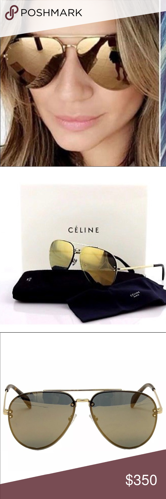 71178fb11db8 Brand New Celine Aviator Sunglassez Brand New Celine CL 41391S 41391 S J5G  MV