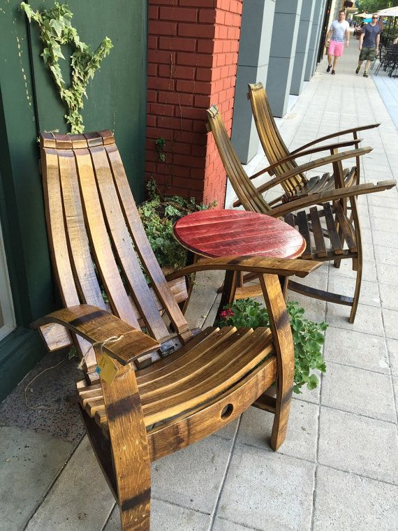 white wine barrel adirondack rocking chair kit by
