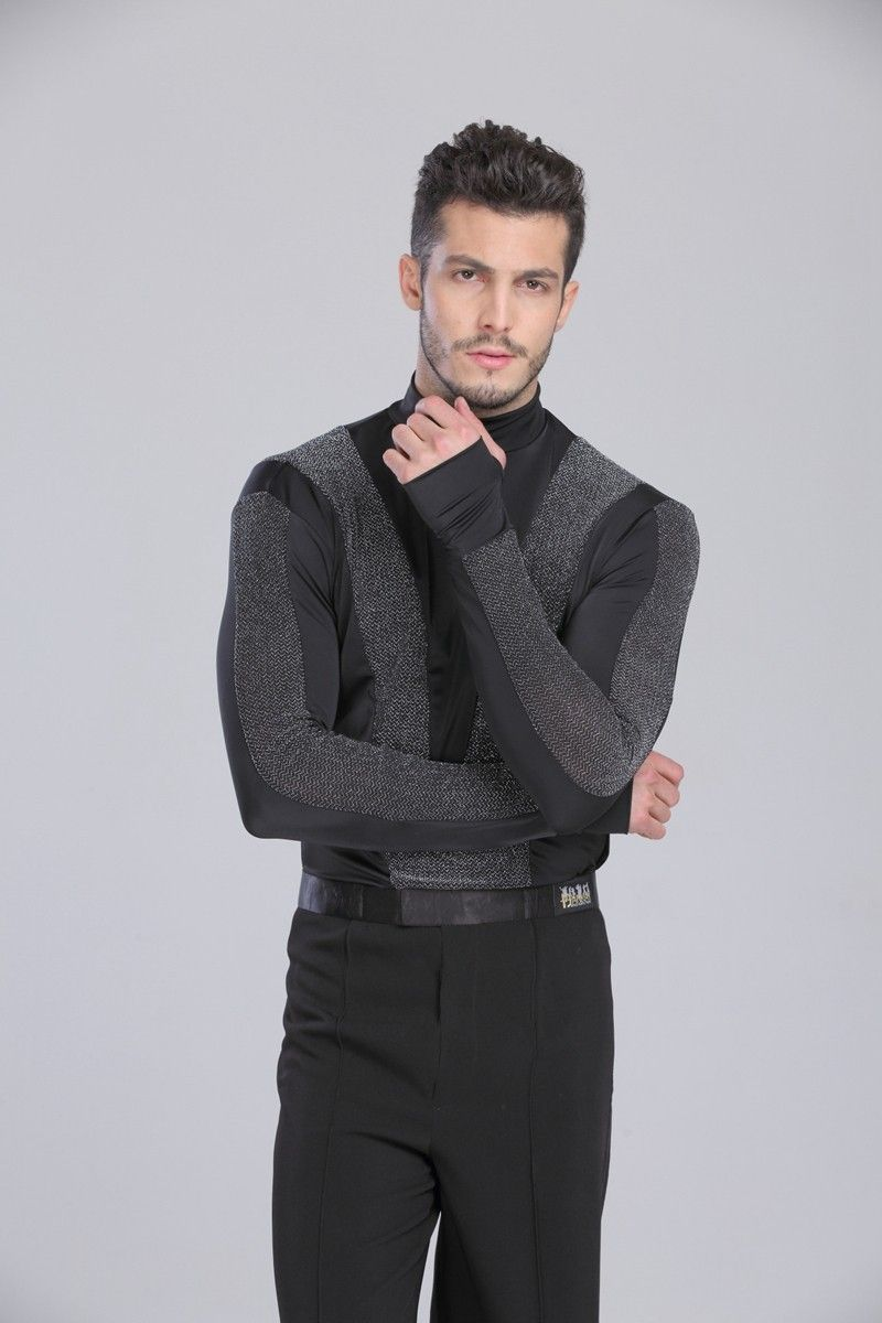 4a562898b US $36.23 / piece 2015 New Arrival Men Dance Shirt Turtle Neck Long Sleeve  Mens Latin Shirts Ballroom Dance Tops Clothing For Dance Wear