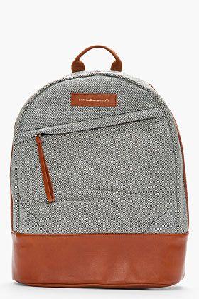 Want Les Essentiels De La Vie Black & White Leather Trimmed Kastrup Backpack for women | SSENSE
