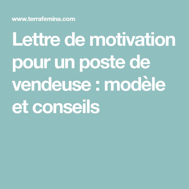 Lettre de motivation pour un poste de vendeuse : modèle et ...