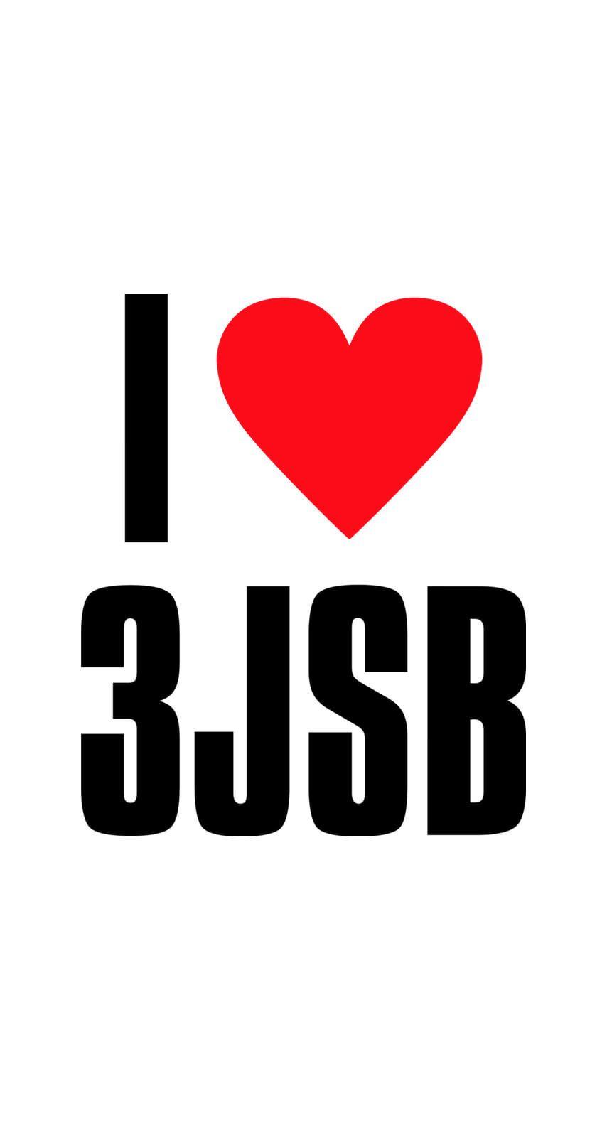 超カワ 三代目jsbファンに贈る I Love 3jsbロゴホワイト Soul Brothers Soul