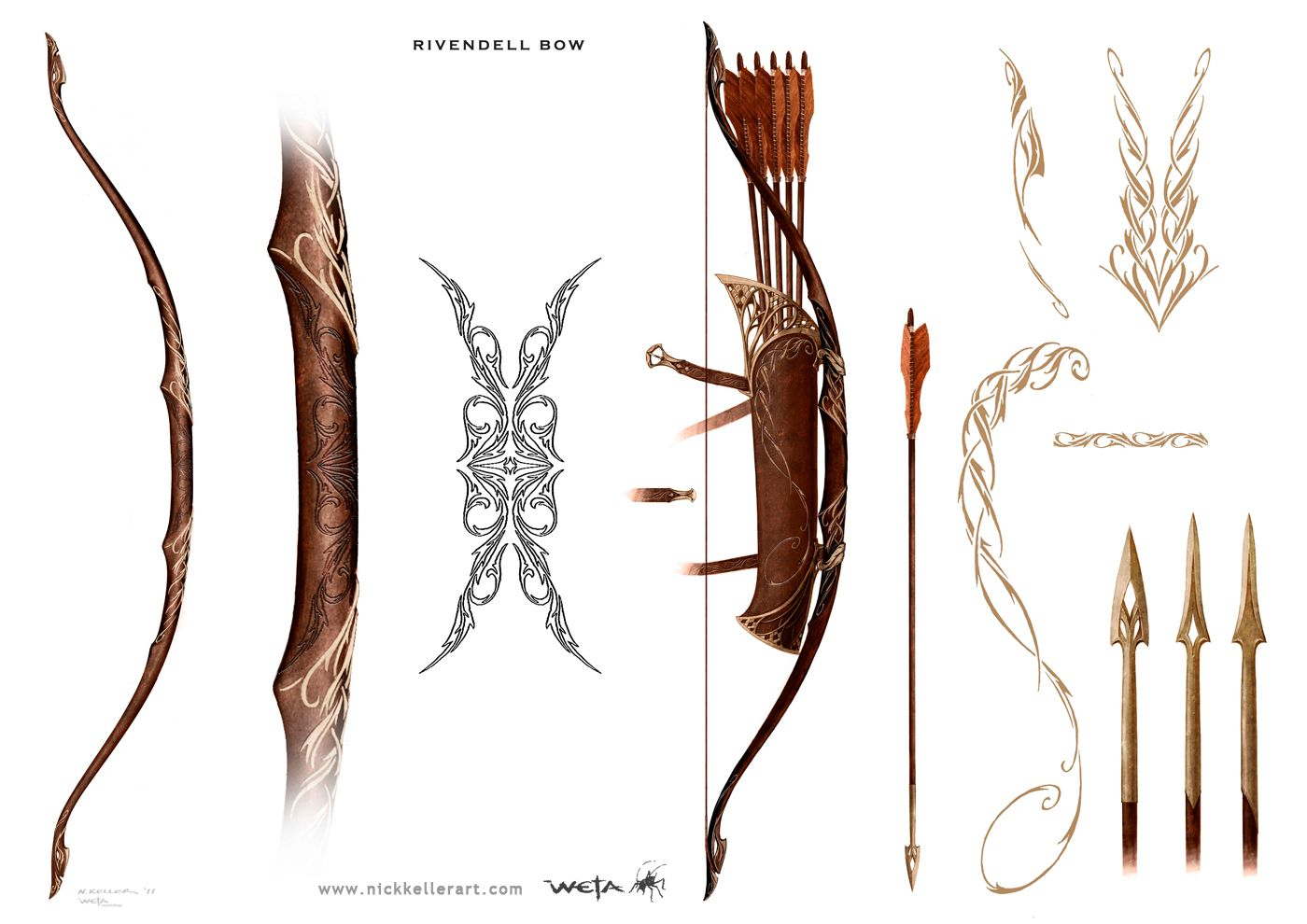 Nick Kellers Concept Art For The Hobbit Rivendell Bow Game