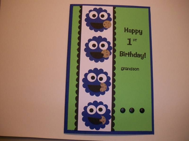 Cookie Monster Birthday Card Cookie Monster Card Pinterest