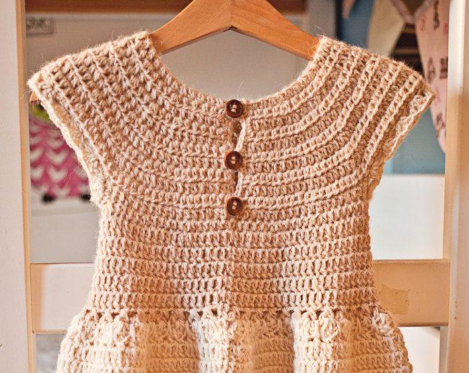 Crochet dress PATTERN - Darling Dress (baby, toddler, child sizes ...