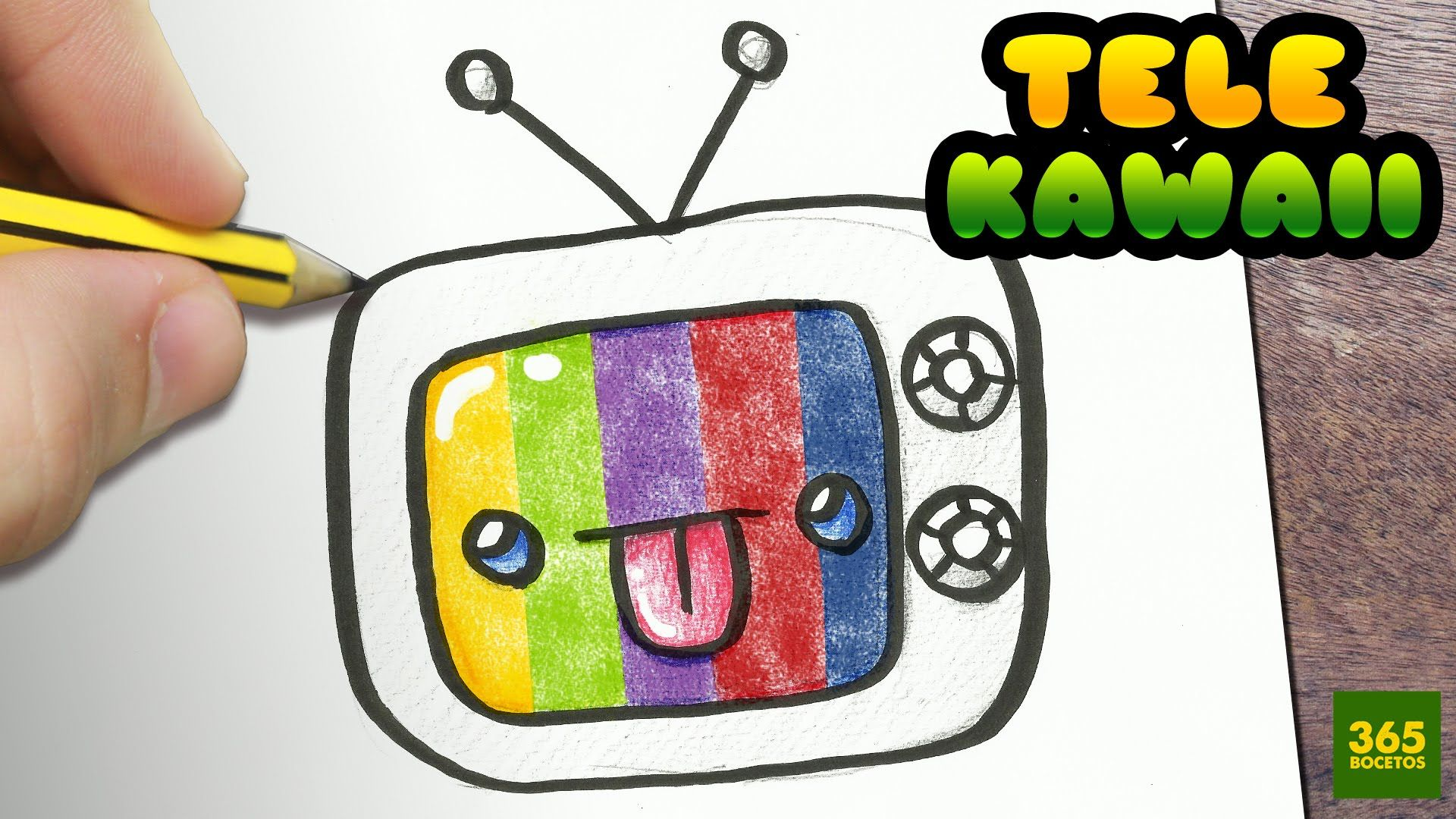 COMO DIBUJAR TV KAWAII PASO A PASO - Dibujos kawaii faciles - How to dra...