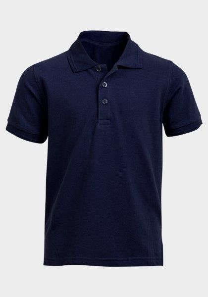7d1ece633 Boys  Waffle Fabric Polo Shirt - Midnight Blue
