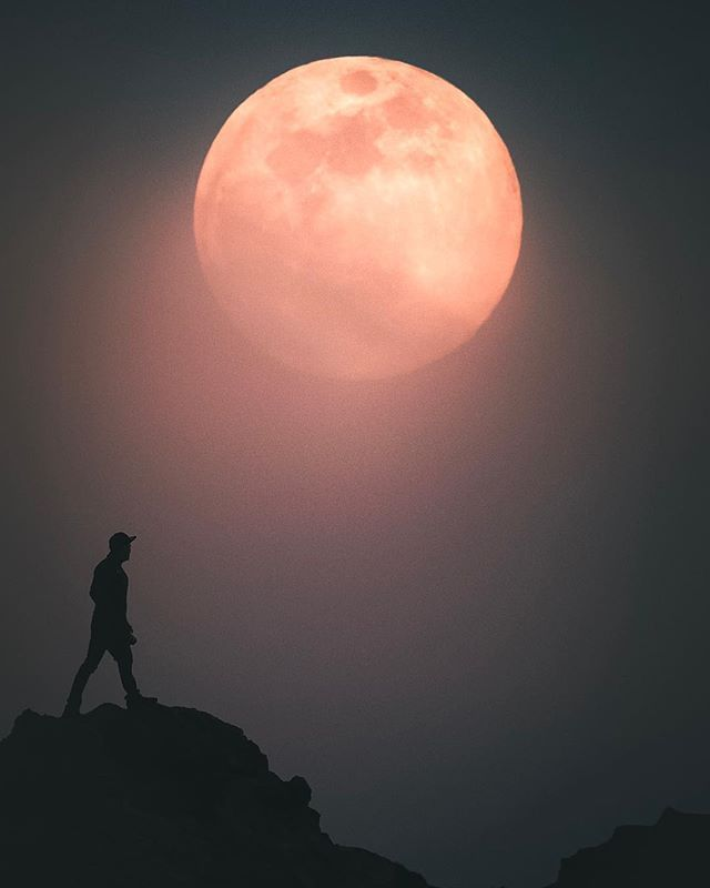 Talking to the moon ! ...