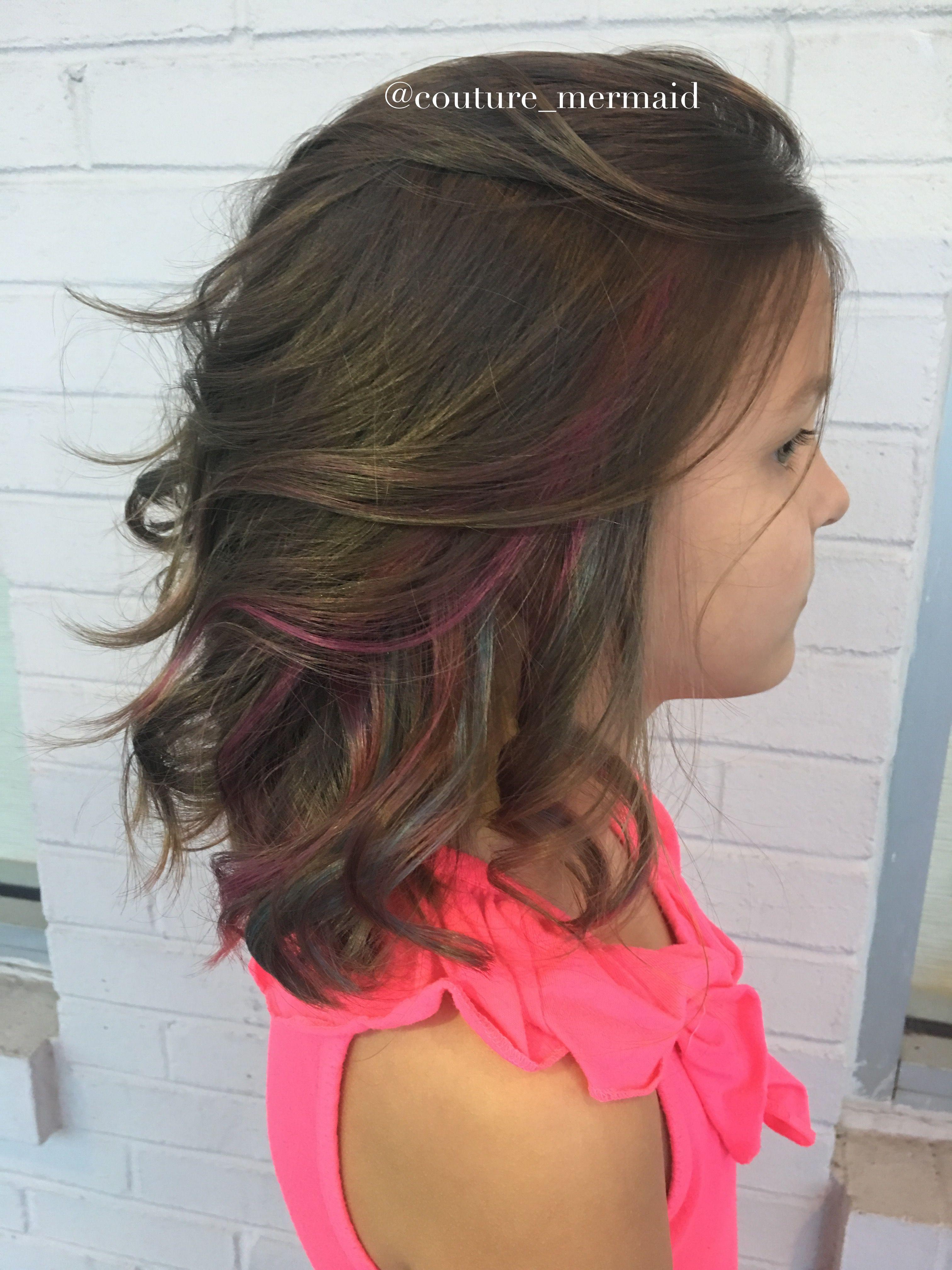 Peekaboo Highlights Peekaboo Highlights For Children Children S Hair Kids Hair Color Hair Color Streaks Kids Hairstyles