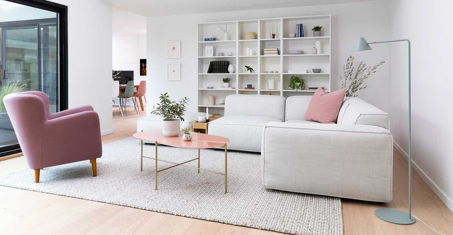 Silicus Pink Oblong Coffee Table How To Clean Furniture Furniture Mid Century Modern Lounge [ 747 x 1440 Pixel ]