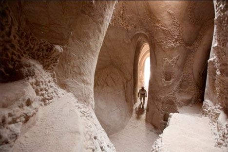 Surreal Subterranean Space: Hand-Carved Cave for Sale