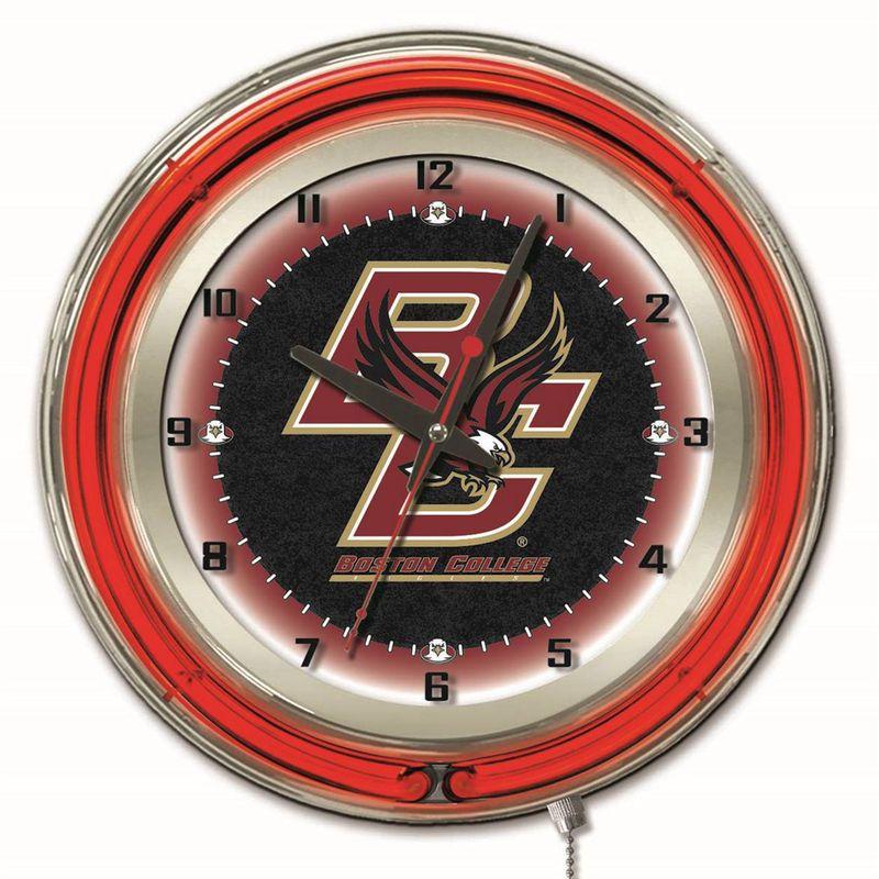 """Boston College Eagles 19"""" Neon Wall Clock Neon clock"""