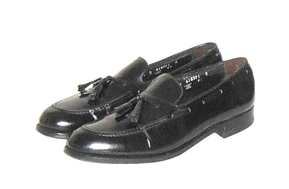 Florsheim Men's Black Leather Tassel Loafer Slip On Shoe Size 9.5 ...