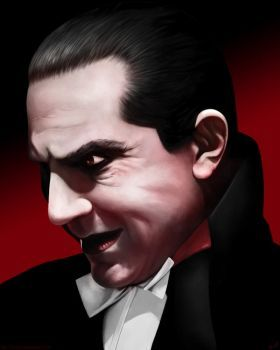 My tribute to Bela Lugosi as Count Dracula. I always thought of Lugosi as being quite a sinister figure creeping around in the shadows and wanted to capture that feeling. I liked the idea of doing ...