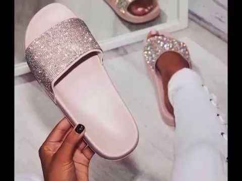 f0eefd9ba74be Faça você mesma - Chinelo Slide com Strass | Гутал | Shoes, Slipper ...