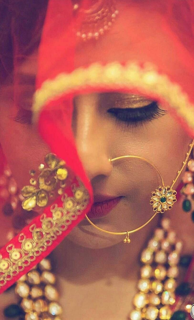 Indianbride Indianwedding Weddingidea Jewellery Nath Mathapatti