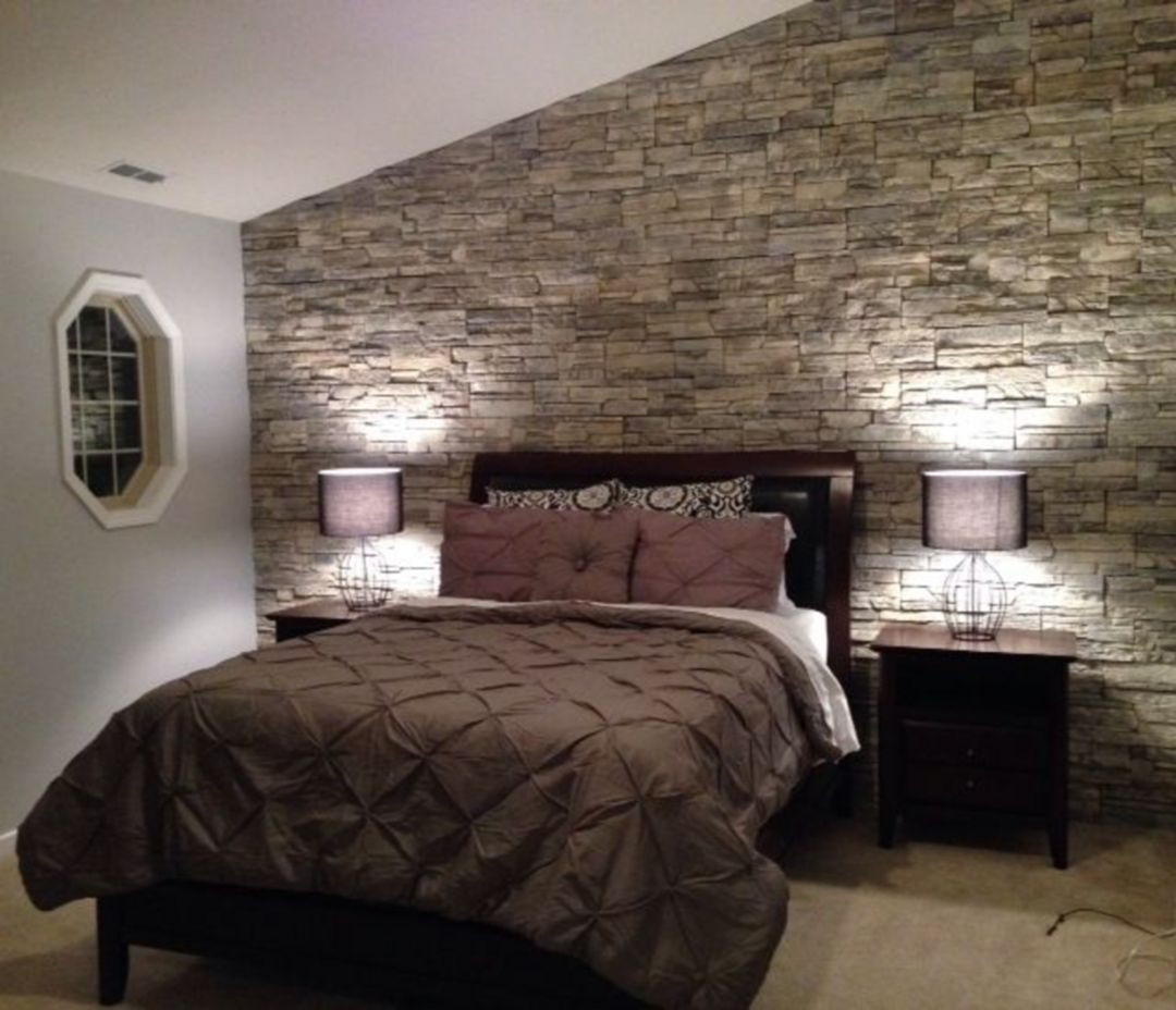 20 Charming Stone Wall Decor Ideas For Your Dream Home Bedroom Makeover Stone Walls Interior Bedroom Wall