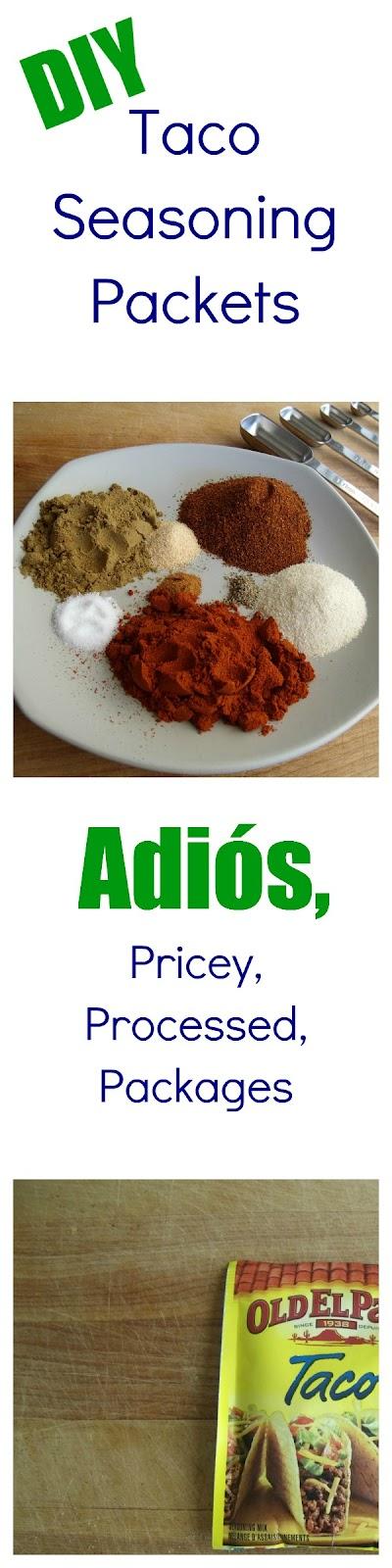 DIY Taco Seasoning Packet Recipe #tacoseasoningpacket