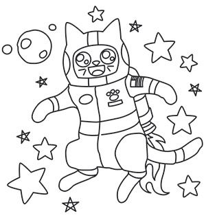 Stitch fluffy 39 s first trip to outer space with this for Outer space urban design