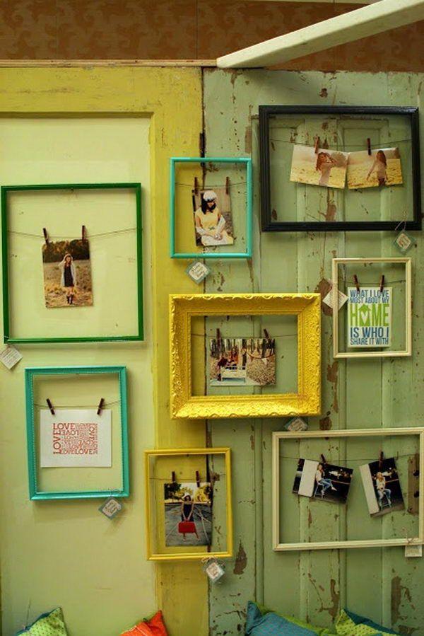 20 Creative Photo Frame Display Ideas | Nuevas ideas, Tiendas y ...