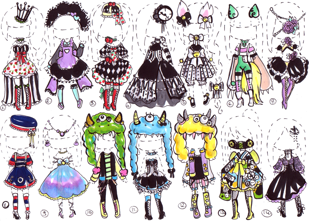 Closed Fancy Outfits By Guppie Adopts On Deviantart