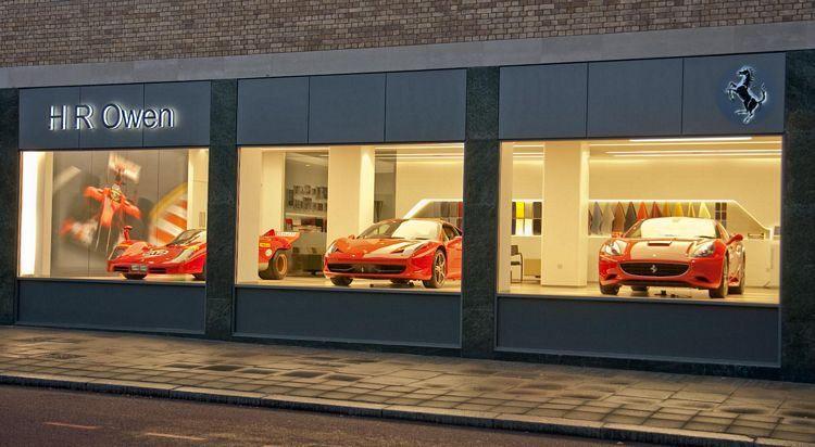 First Ferrari Store Retail Display Ferrari Retail Design