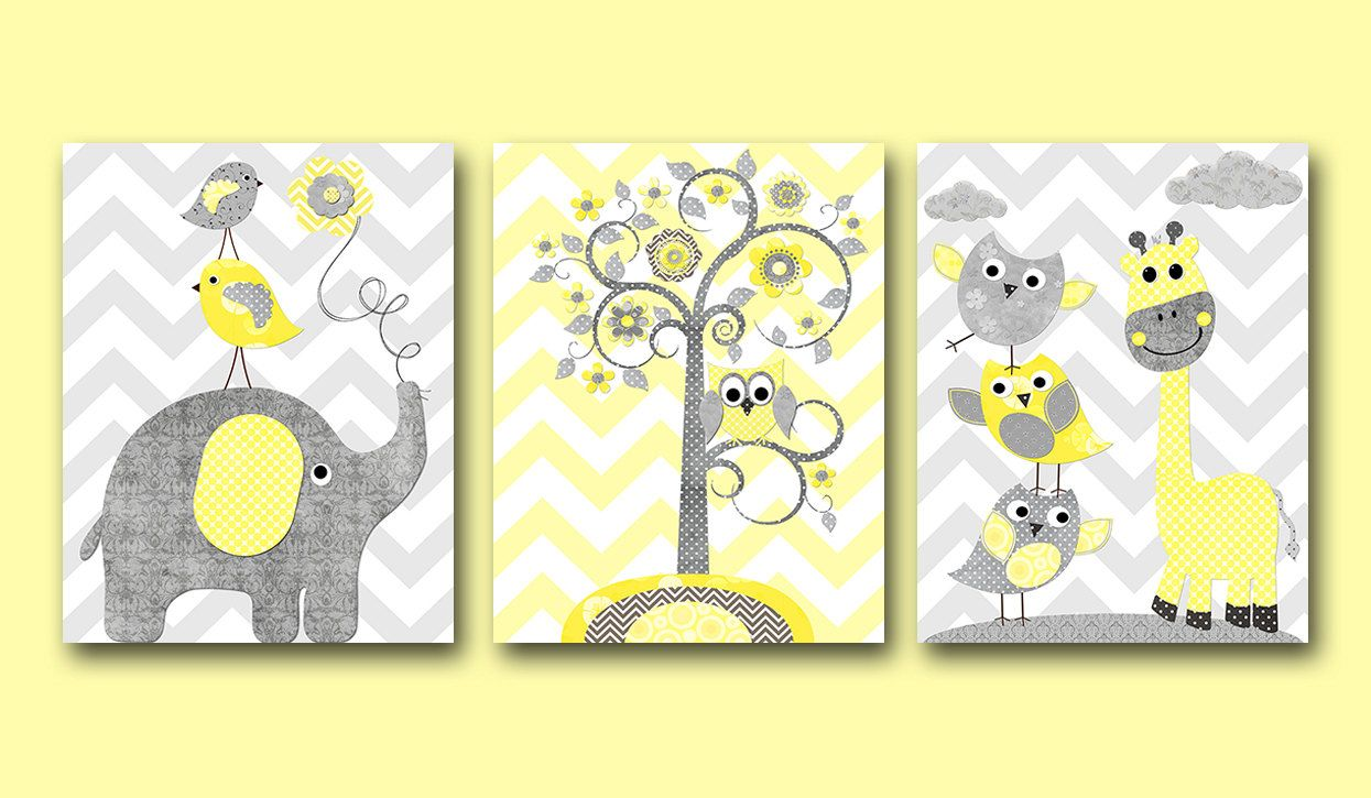 Kids Wall Art Baby Shower Gift Playroom Wall Decor Baby Nursery Art ...