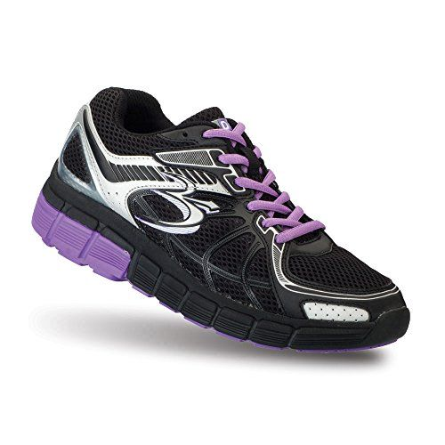 Gravity Defyer Womens Gdefy Super Walk Black Purple Athletic Shoes