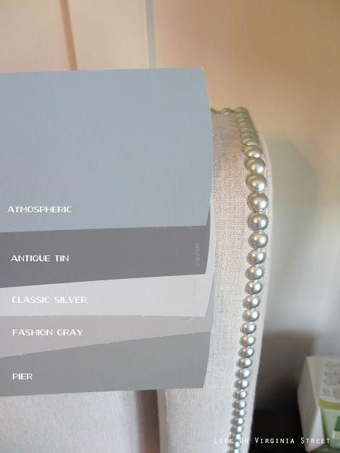 Side By Comparison Of Behr Atmospheric Pier Fashion Gray Clic Silver Antique Tin