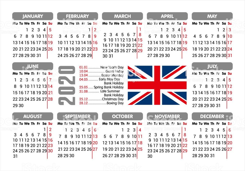 Uk 2020 Calendar Printable Wallpapers Holidays Pdf Excel