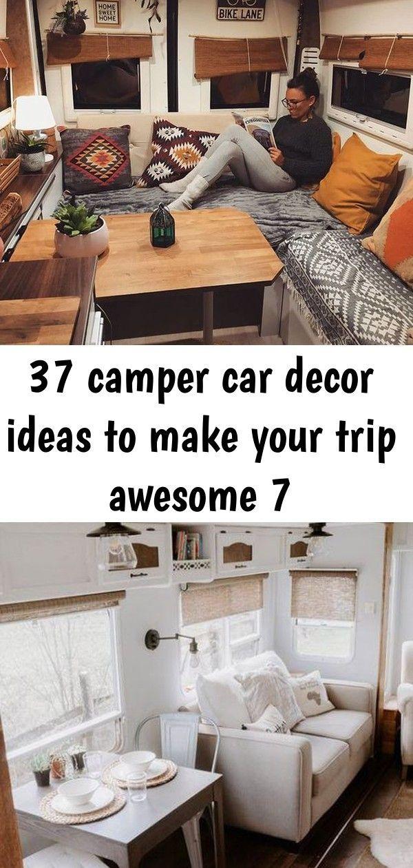 37 Camper Car Decor Ideas to Make Your Trip Awesome home design, , interior design, kitchen desig