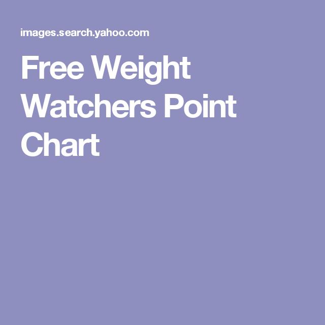 Free Weight Watchers Point Chart Weight Watchers Calculator