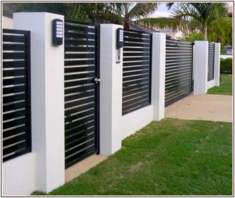 45+ Unique Modern Fence Design Ideas To Enhance Your ...