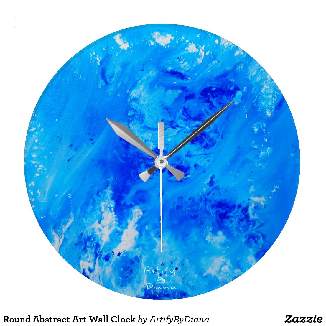 Round abstract art wall clock designed by artify by diana wall