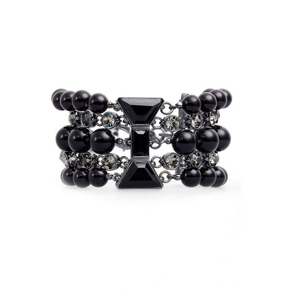 Marc By Marc Jacobs Multi Row Id Bracelet ($89) ❤ liked on Polyvore