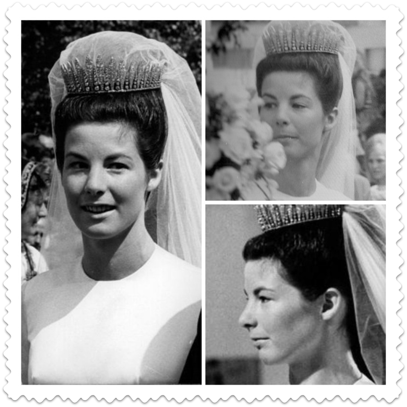 Princess Gina Loaned The Diamond Fringe To Two Daughters In Law Her Eldest Son Prince Hans Adam Wed Countess Marie Kinsky Von Wchinitz Und Tettau On 30 June