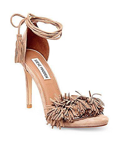 9e2125fdea1 Steve Madden Sassey Fringe Sandals #Dillards | Heels! Pumps ...