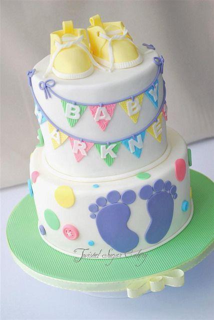 Bildergebnis für babyparty torte neutral