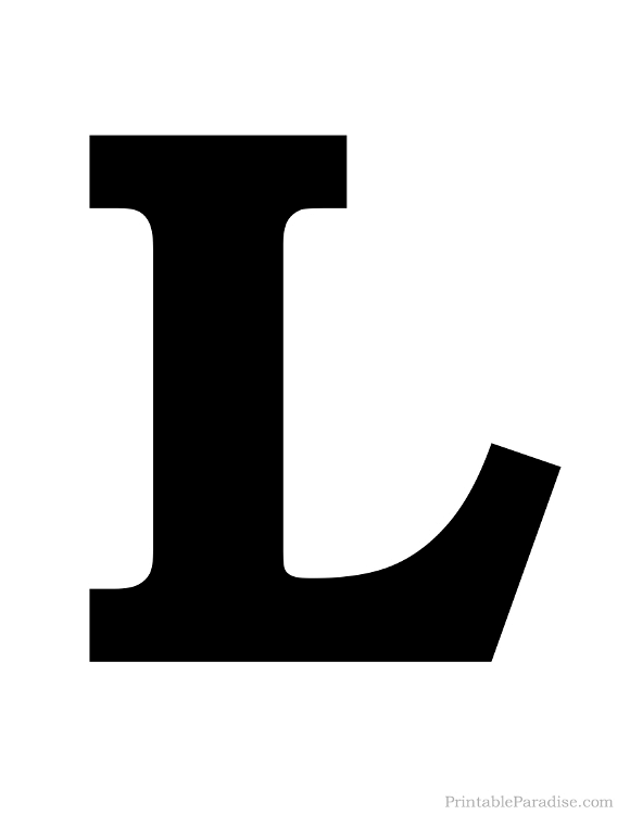 This is a photo of Current Letter L Printable