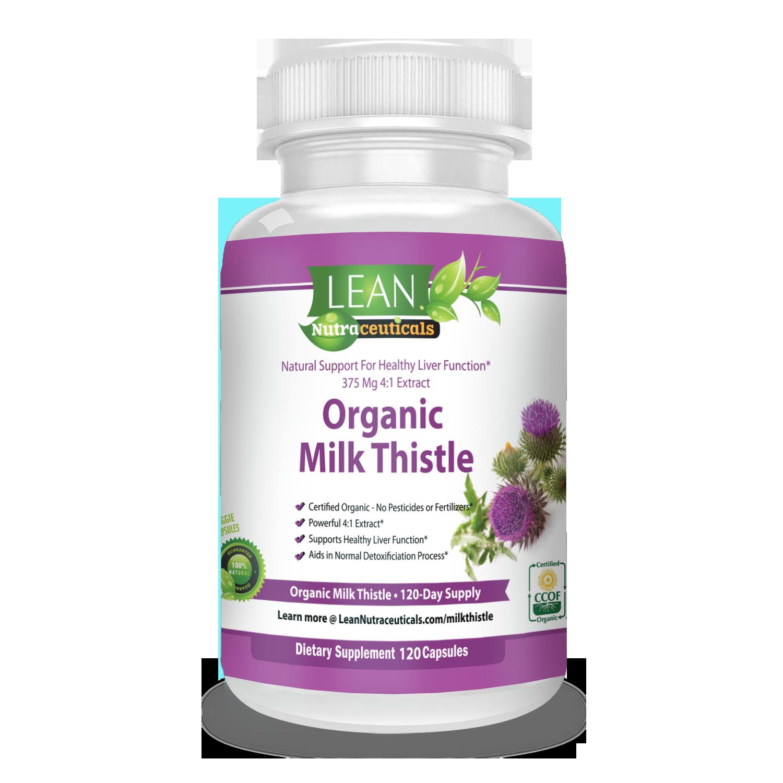 Lean Nutraceuticals Milk Thistle Supplement Milk Thistle Organic Milk