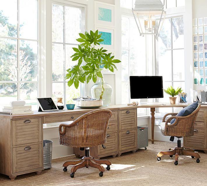 Pottery Barn Whitney Rectangular Desk Seadrift Office Desk