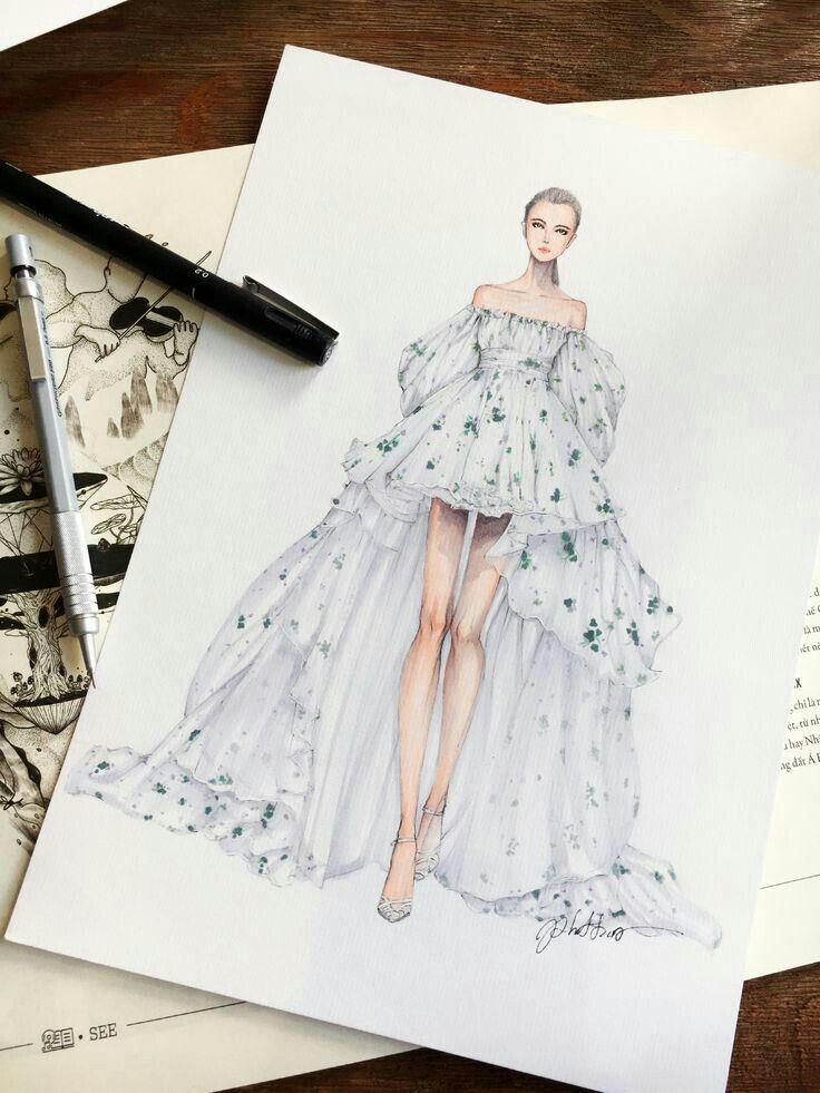 mode skizzen kleider