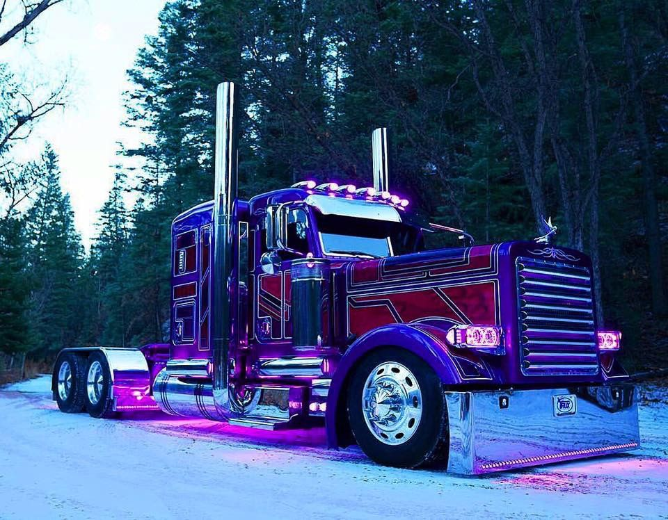 Custom Peterbilt 389 3 Axle With Images Big Rig Trucks