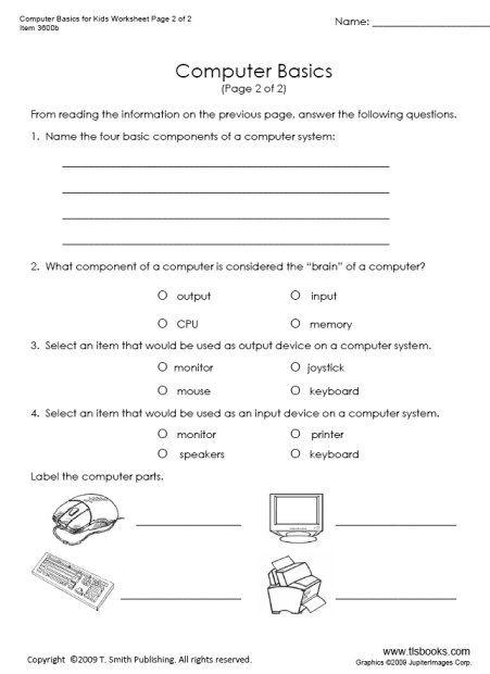 Snapshot Image Of Computer Basics Computer Basics Computer Lessons 2nd Grade Worksheets