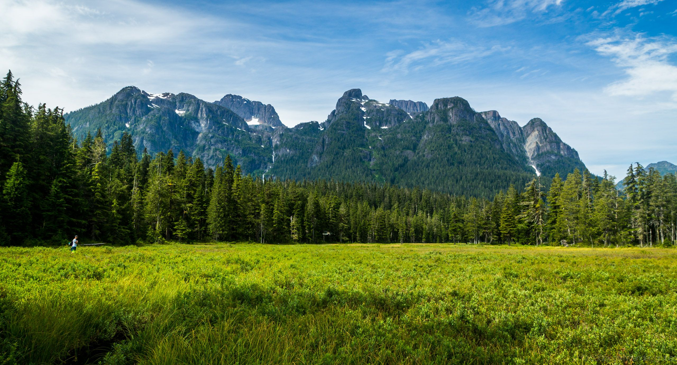 Stunning view Mt Schoen on Vancouver Island. [OC][2560x1380]   landscape Nature Photos
