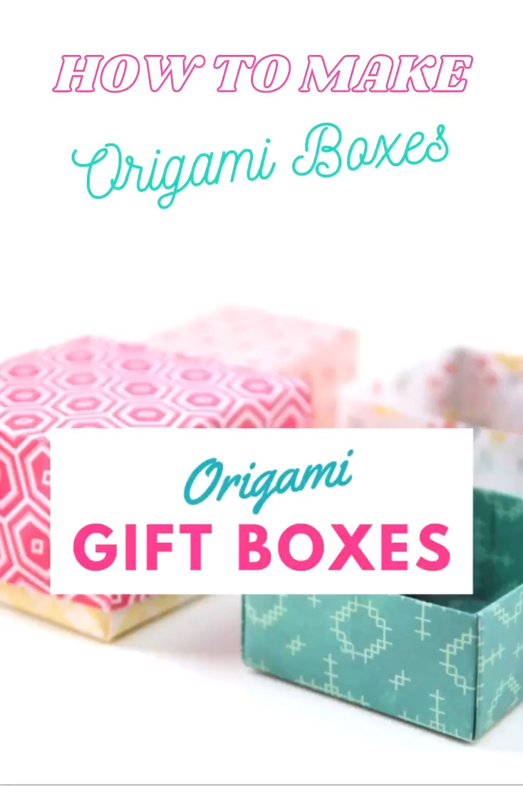 Photo of HOW TO FOLD AN ORIGAMI GIFT BOX.