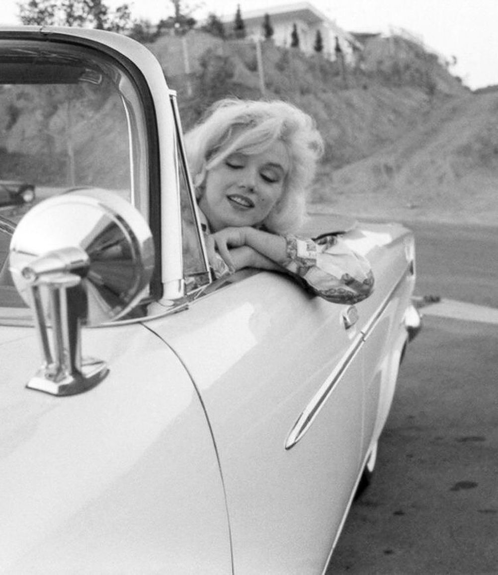"Marilyn Monroe on Instagram: ""Marilyn in her 1962 Chrysler 300, photos by George Barris � #marilynmonroe"""